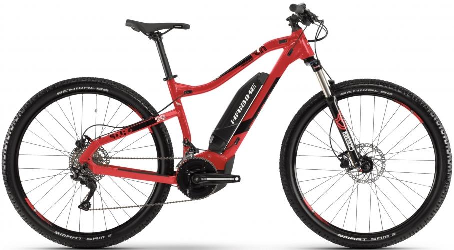 Электровелосипед HAIBIKE SDURO HardNine 3.0 29 2019, красный