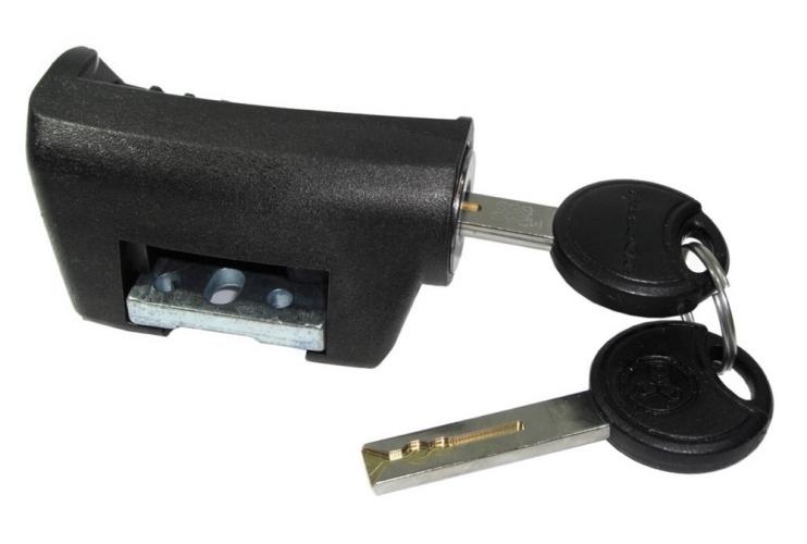 Замок аккумулятора с ключами AXA Yamaha, с. 2015г.